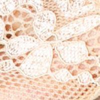 Koronkowe skarpetki stopki lace p31 beige