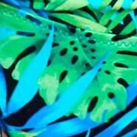 Dwuczęściowy Kostium Kąpielowy z Wzorzystymi Figami Vulcano 2 Blue Marilyn